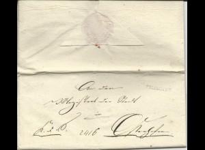 Bayern 1828, L1 Vilshofen auf Brief n. Osterhofen.