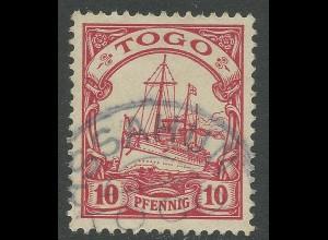 Togo, 10 Pf. m. Stpl. ASSAHUN. Besserer Stempel!