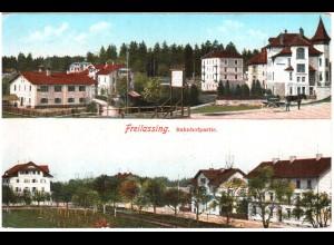 Freilassing, Bahnhof Partie, 1912 gebr. Farb AK