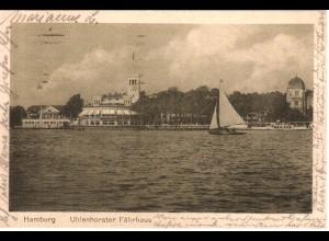 Hamburg, Uhlenhorster Fährhaus, 1922 gebr. sw-AK.