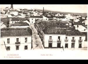 Spanien, Algeciras, Calle del Rio con Cerveceria, ungebr. sw-AK.