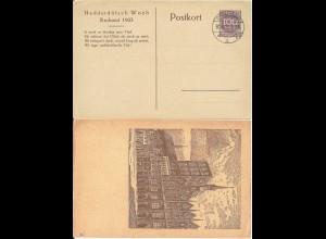 DR 1923, Privat Ganzsache PP 69-C1, Nedderdütsch Woch Stralsund m. Tagesstempel