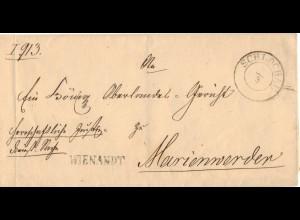 Preussen, K2 SCHLOCHAU auf Dienst Brief m. Beamtenstempel nach Marienweder. #865