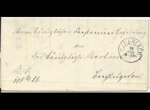 Bayern 1870, K1 Hohenwart klar auf Orts Brief !