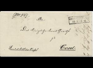 Preussen 1865, R1 Gross-Strehlitz auf Oberschlesien Brief n. Cosel