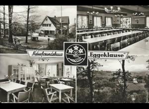 Wetter, Naturfreundehaus Eggeklause, gebr. sw AK