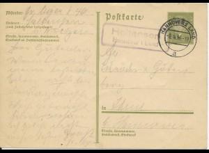 DR 1933, Holtensen Hannover Land, Landpost Stempel auf 6 Pf. Ganzsache