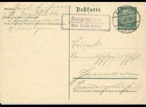 DR 1936, Koppengrave über Alfeld (Leine), Landpost Stempel auf 6 Pf. Ganzsache