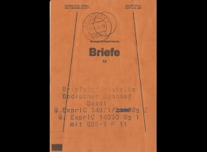 Bayreuth, Brief Bund Fahne f. BA Basel Bad. Bahnhof.