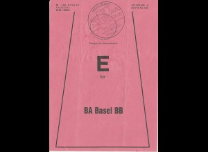 Maulburg, Brief Bund Fahne f. BA Basel Bad. Bahnhof