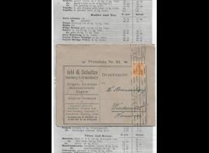 DR 1921, 10 Pf. auf Reklame Klappkarte m. mehrseitger Preisliste v. Hamburg