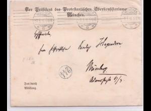 Bayern 1916, Frei d. Ablösung, Brief des Protest. Oberkonsistoriums München. #44