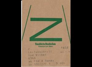 Frankfurt, Zeitung Brief Bund Fahne f. Frankf. Rundschau n. Bad Vilbel