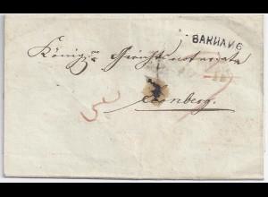 Württemberg 1836, Backnang Leonberg, Wende- Porto Brief m. L1 Baknang. #1099