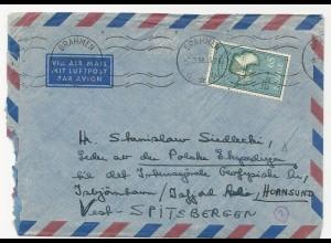 Norwegen 1958, Polar Brief v. Drammen a.d. Leiter d. Polen Expedition Sptzbergen