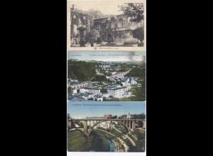 Luxembourg, 3 gebrauchte AK, davon 1 sw Mondorf les Bains Casino. #969