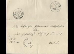 Bayern, K1 AIDENBACH auf Brief v. Uttigkofen n. Passau