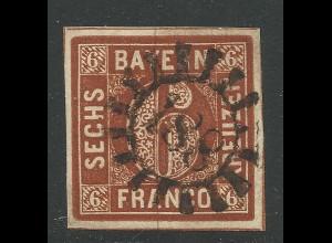 Bayern, MR 188 Lindau klar u. fast zentr. auf breitrandiger 6 Kr.