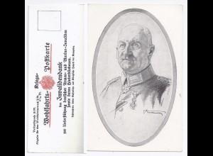 General von Linsingen, geb. in Hildesheim, ungebr. Invalidendank sw-AK. #1609