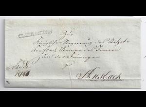 Bayern, CL.HEILSBRONN, L1 auf Dienst Brief n. Ansbach. #605