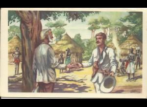 Ostafrika,Treffen Livingstone u. Stanley in Ujiji, Expedition Sammelbild. #1661