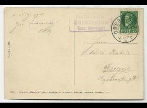 Bayern 1917, Posthilfstelle Gerstruben T. Oberstdorf auf AK von ebenda!
