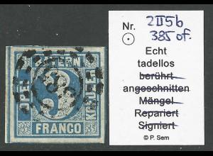 Bayern 2 II5b, sehr breitrandige 3 Kr. m. oMR 385 u. allen Schnittlinien!