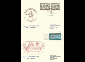 Segelschulschiff Gorch Fock, 2 Brief v. Jugoslawien u. Frankreich