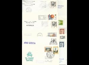 12 Kiel Schiffspost Briefe m. versch. Frankaturen, dabei auch Paquebot