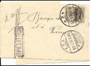 """Belgien 1918, 3 C. auf Drucksachen Schleife m. Zensur """"Gepr. Lüttich"""""""