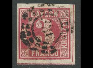 Bayern, sehr breitrandige 3 Kr. m. 0MR 336 Neuburg