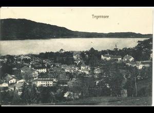 Tegernsee, Gesamtansicht, 1919 gebr. sw-AK.