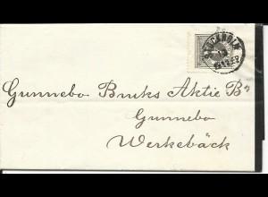 Schweden 1882, 4 öre auf Trauer Brief v. Stockholm.