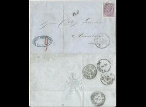 Italien 1867, 60 C. auf PD-Brief v. Milano n. Sachsen.