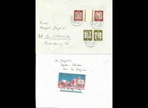 BRD 1964, Propaganda Vignette Marienburg rs. auf Brief v. Baden-Baden