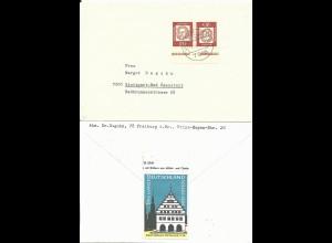 BRD 1964, Propaganda Vignette Greifswald rs. auf Brief v. Untermünstertal