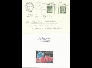 BRD 1962, Propaganda Vignette Meissen rs. auf Brief v. Stuttgart Bad Cannstadt