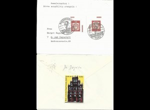 BRD 1964, Propaganda Vignette Königsberg rs. auf Brief v. Baiersbronn