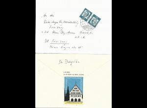 BRD 1964, Propaganda Vignette Greifswald rs. auf Brief v. Baiersbronn