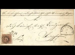 Bayern, MR 228 Neuhaus auf Brief m. breitrandiger 6 Kr. n. Vilshofen. Sem +90 €
