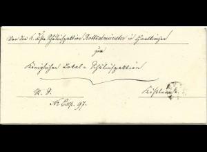 Bayern, Fingerhut Stpl. NEUHAUS auf Brief v. Hartkirchen n. Kößlarn