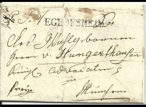 Bayern 1832, L1 EGLOFSHEIM auf franco Brief v. Ginkofen n. München