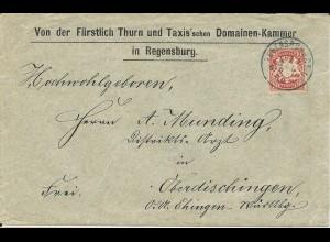 Bayern 1910, Brief der Thurn u. Taxis Domainan Kammer Regensburg