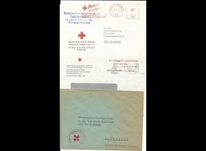 BRD, 3 späte KGF u. Heimkehrer Brief von u. nach Bielefeld