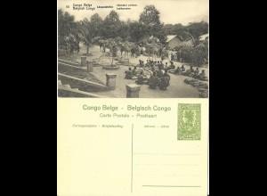 Belgisch Congo, ungebr. 5 C. Bild Ganzsache m. Abb. Last Kamele. H&G43