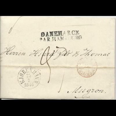 Dänemark 1846 Porto Brief V Kopenhagen N Mugron Frankreich