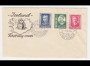 Island 1954, FDC 293/95