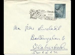 Österreich Christkindl SoStpl. 1959 auf Brief m. 2,40 S. n. Schweden