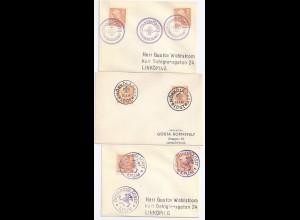 Pfadfinder, scouts, spejder, 3 Schweden Brief m. Lagerstempeln 1951-54. #1392