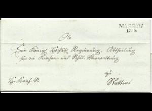 Preussen, Westpommern L2 MASSOW klar auf Brief n. Stettin.